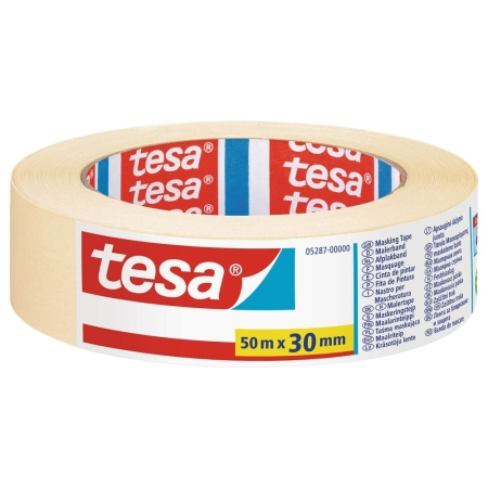 tesa® 5287, 30 mm x 50 m, 0,161 mm, Beige, Malerband BASIC